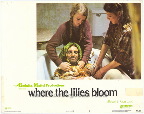 Kaiser Pease getting his onion poultice in Where the Lilies Bloom (1974 film)