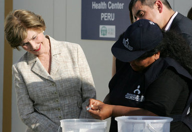 Mrs. Laura Bush looks on Friday, Nov. 21, 2008, as Ms. Maria Salguero Trillo, Community Health Educator Volunteer at the San Clemente Health Center in San Clemente, Peru, demonstrates how families are trained to treat contaminated water for safe drinking, <b>Amoxicillin Dose For A Dog</b>. In the town of 25,000, <b>250mg Amoxicillin Dose For A Dog</b>, nearly 89 percent of the homes were affected by the August 2007, 8.0-magnitude earthquake. White House photo by Joyce N. Boghosian