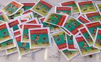 Packets of El Asesino pet poison confiscated in Chile last year (photo c, <b>Diflucan Canesoral</b>. El Mercurio)